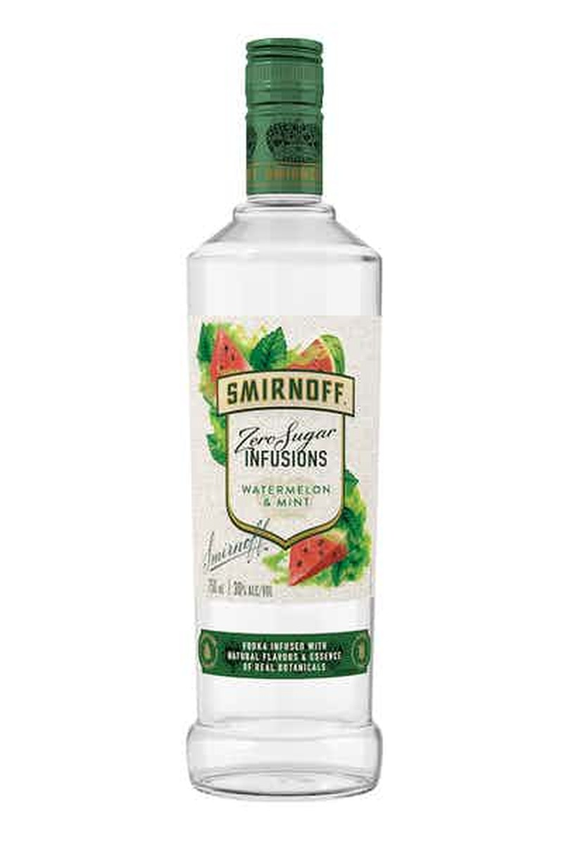 SMIRNOFF ZERO ZUGAR INFUSIONS WATERMELON & MINT 750ML