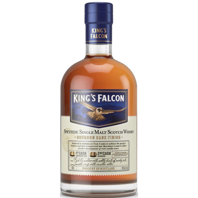 KING'S FALCON CASK FINISH SINGLE MALT 750ML
