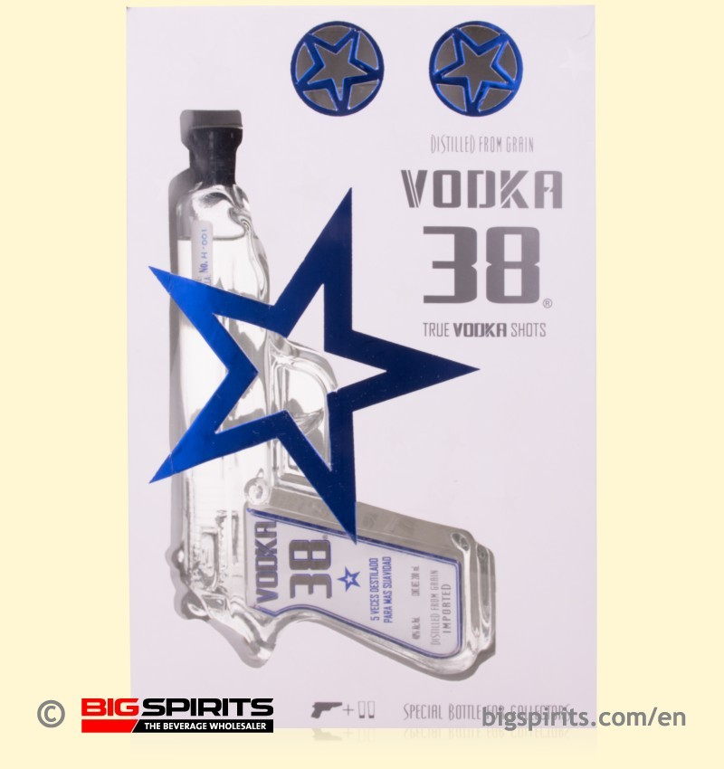 VODKA 38 GLASS PISTOL 200ML