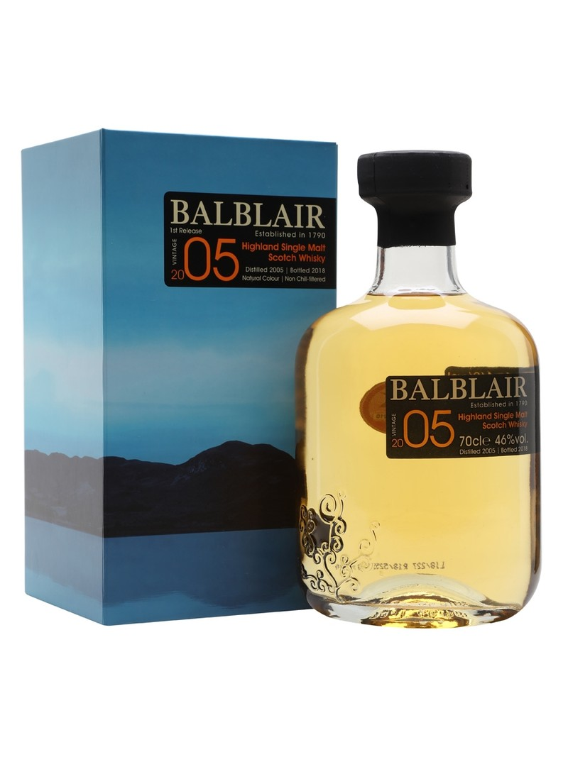 BALBLAIR 2005 HIGHLAND SINGLE MALT WHISKY 750ML