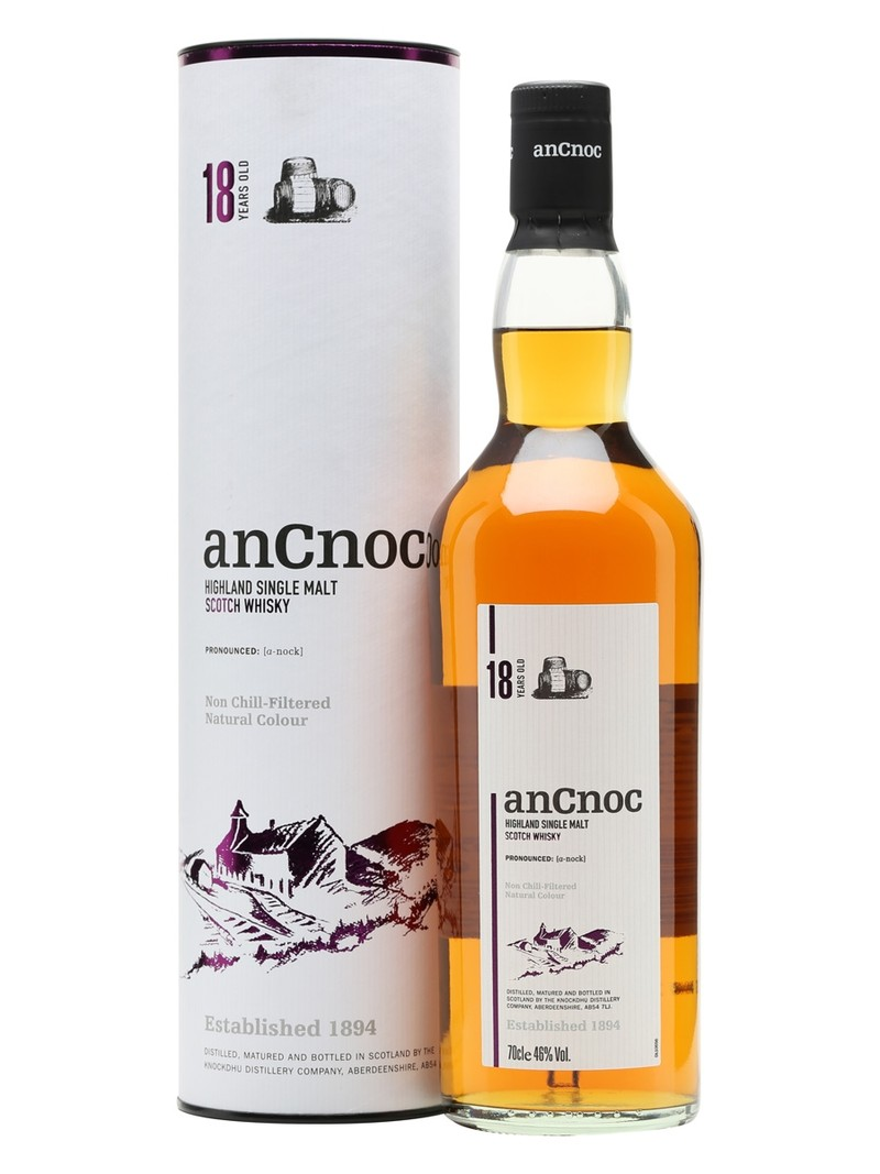 ANCNOC HIGHLAND SINGLE MALT 18 YEARS 750ML