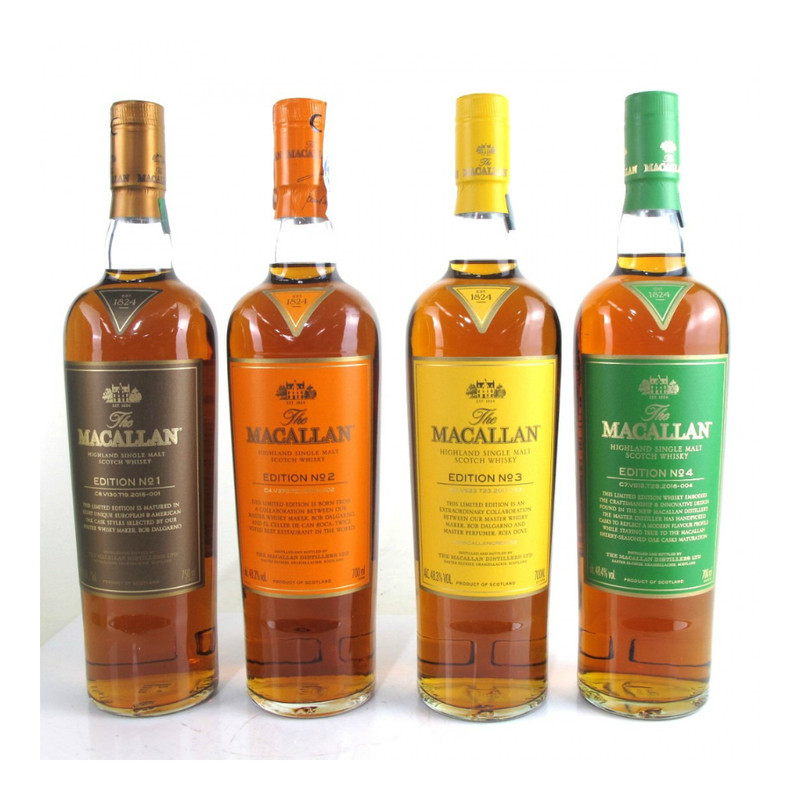 THE MACALLAN EDITION No.1-4 COLLECTION 750ML