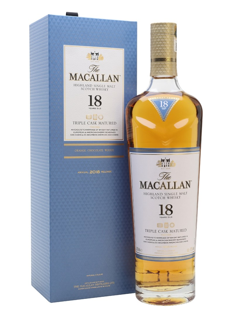 THE MACALLAN 18 YEARS OLD TRIPLE CASK MATURED 750ML