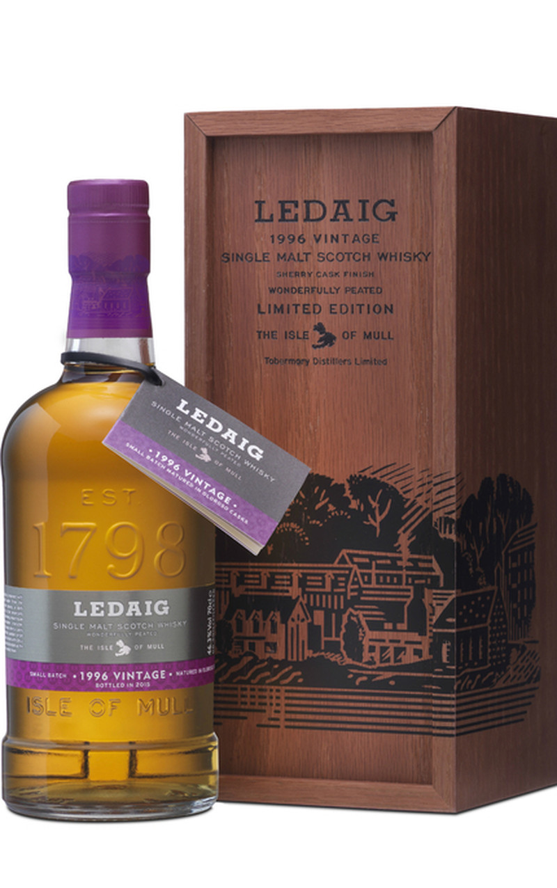 LEDAIG 18 YRS SHERRY OAK FINISH SINGLE MALT SCOTH 750ML