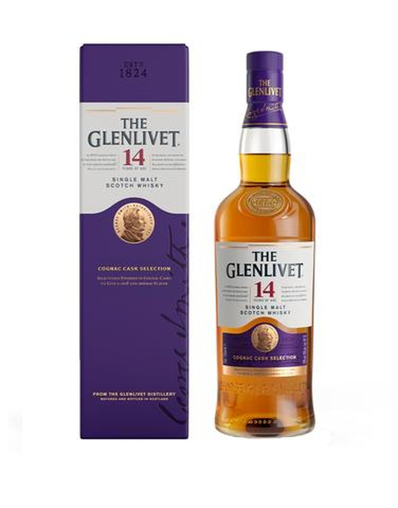 THE GLENLIVET 14 YRS COGNAC CASK SELECTION 750ML