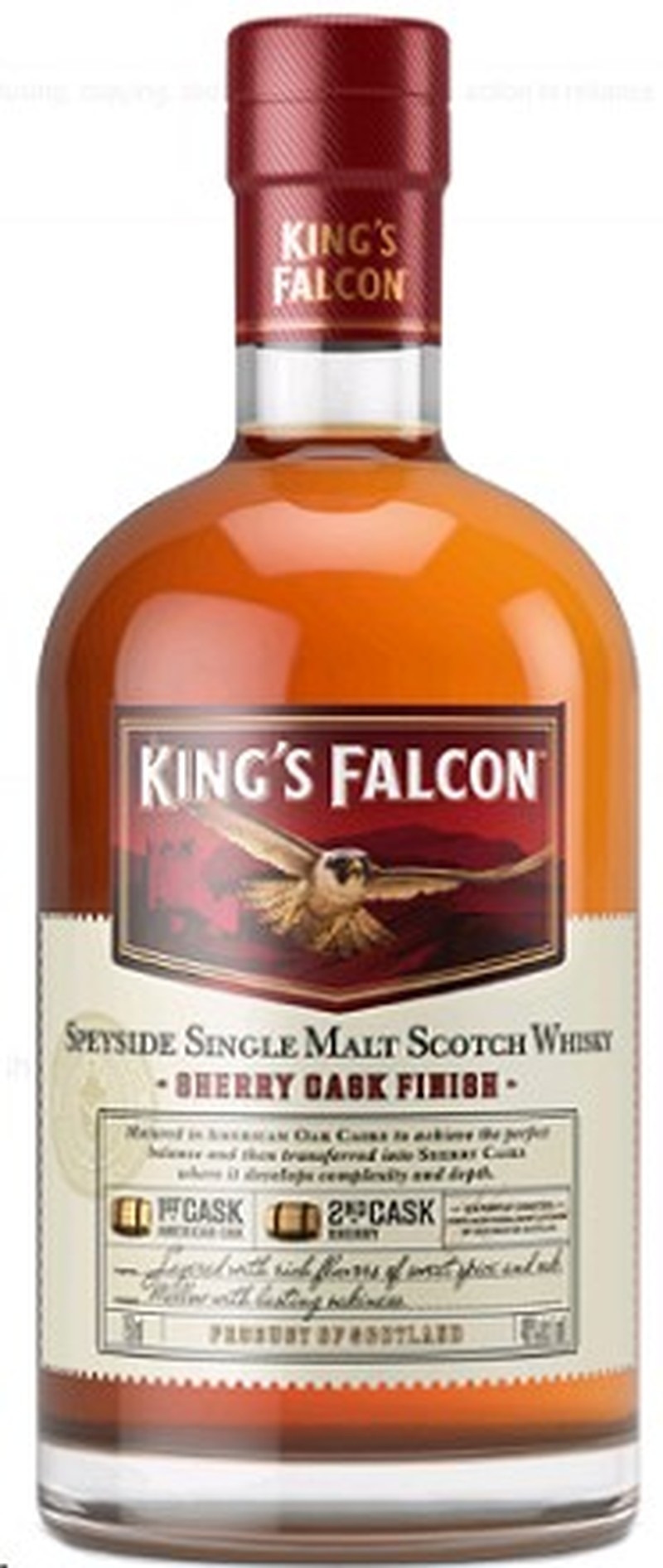 KING'S FALCON SHERRY CASK FINISH SINGLE MALT 750ML